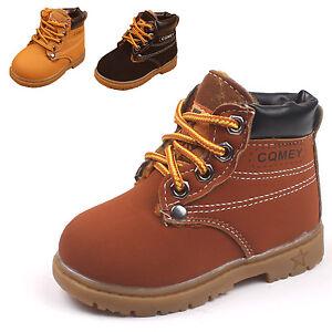73e5a9c1ebebd Bottines à Lacets Enfant Garcon Fille Hiver Chaussure Montante ...