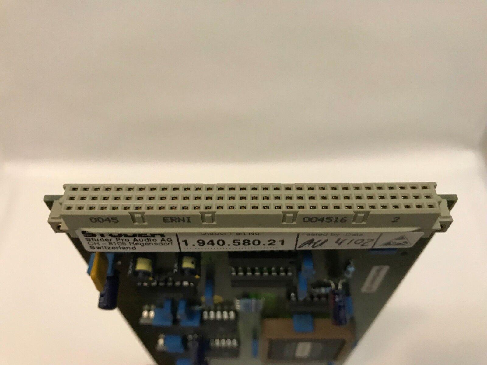 Studer D19M D19M D19M tarjeta de entrada AES-pn 1.940.580.21 - Envío Gratuito bb13fc