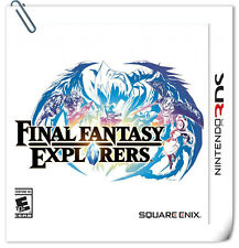 3DS Final Fantasy Explorers Nintendo Games RPG Square Enix
