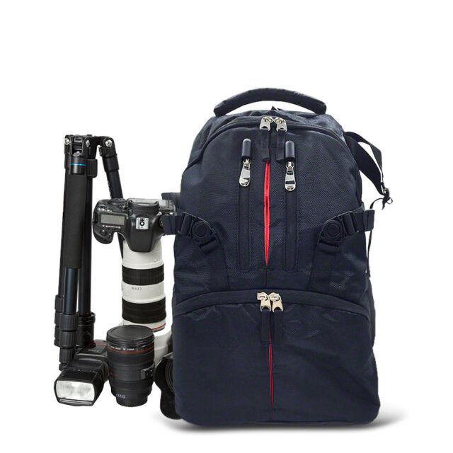 SLR DSLR Camera Bag Case Backpack Water/Shock-resistant For Canon Sony Nikon AU