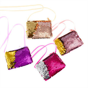 Children-039-s-Girl-Sequins-Messenger-Bag-Cartoon-Square-Wallet-Purse-Handbag-Gift