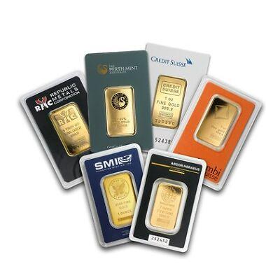 1 oz. Gold Bar with Assay Card