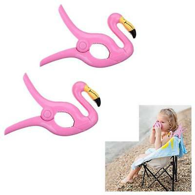 Cute Sun Lounger Beach Towel Wind Clips Sunbed Pegs Fun Pool Flamingo Clips UK