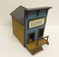 NEW  28mm Old West Barber PREPAINTED kit.