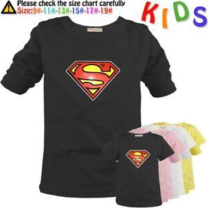 Superman-S-Graphic-Tee-Shirts-Kids-Birthday-Gift-Boys-Girls-T-Shirt-Childs-Tops