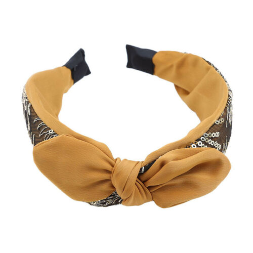Daily Headband Bow Fabric Fashion Ear Ribbons Common Usual Solid Color Head Wrap