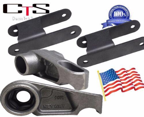 """3/"""" Front Adjustable 2/"""" Rear Shackles Hummer H3 Lift Kit Torsion Keys 1/"""""""