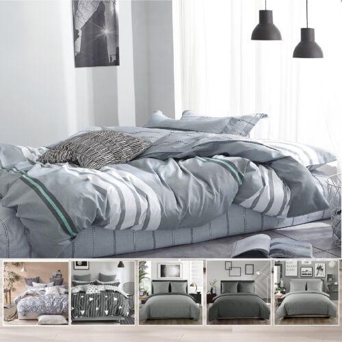 Baumwolle Bettbezug Bettwäsche mit Kissenbezug 135x200//155x220//200x200cm SQC01
