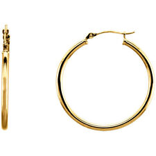 Extra 10% OFF w/PERFECTSTYLE - 14K Gold Filled 1.05 Inch (27mm) Hoop Earrings
