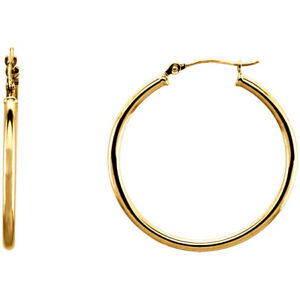 14-Karat-Yellow-Gold-Filled-0-85-Inch-22mm-Snap-Hoop-Earrings