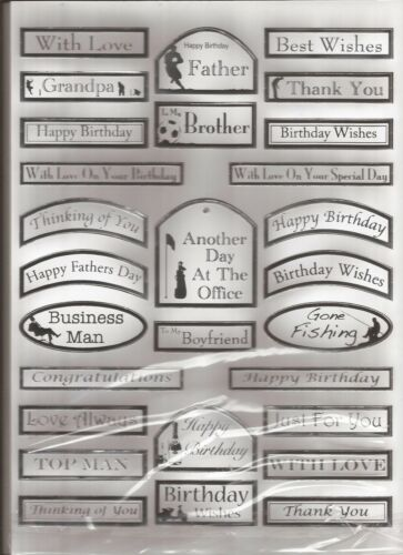 Assorted messages Silver on White 050-674 A4 Die Cut /& Foiled Banners