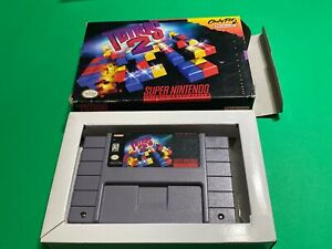 🔥 💯 WORKING CLASSIC SUPER NINTENDO SNES GAME IN BOX - TETRIS 2