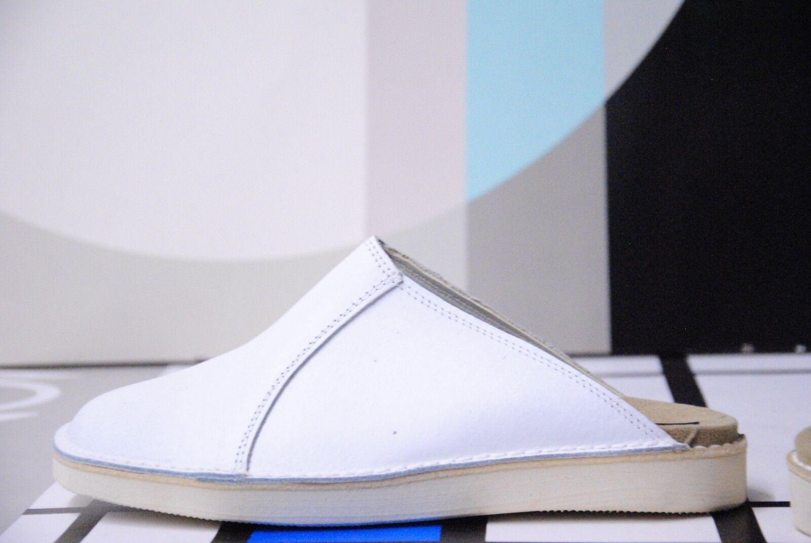 NOS Lejeune weiße Pantolette Badeschuhe OP Sandalen Clogs 90s TRUE VINTAGE Gr 42