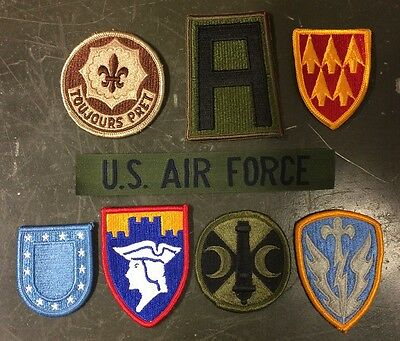 8 Us Army Military Airforce La Raccolta Assorted Uniform Patch Ricamate Patch-mostra Il Titolo Originale