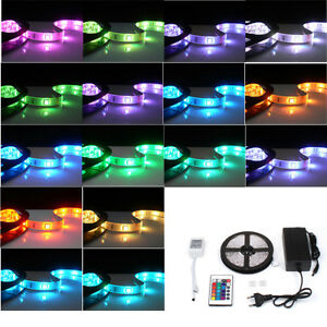 5m rgb led strip band leiste streifen lichtkette 5050 smd. Black Bedroom Furniture Sets. Home Design Ideas
