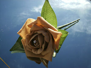 Wedding-flowers-beige-foam-rose-buttonhole-x-1-with-diamante-or-pearls