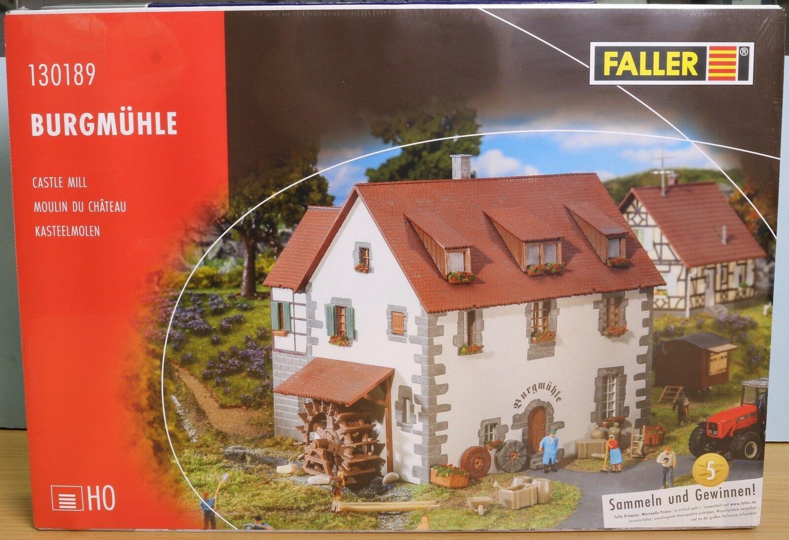 Faller 130189, Spur H0,  Bausatz Burgmühle   Castle mill   moulin du château  | Sehr gute Farbe