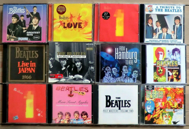 The Beatles m.fl: 12 stk. Cd-albums, pop, The Beatles: 12…