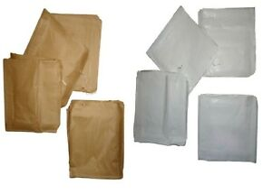 Brown-Kraft-White-Sulphite-Strung-Paper-Bags-Food-Use-All-Sizes-and-Quantities