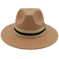 ed61cf7d73285 item 2 Men Women Wool Panama Hat Fedora Sunhat Trilby Cap Wide Brim Striped  Band Size L -Men Women Wool Panama Hat Fedora Sunhat Trilby Cap Wide Brim  ...