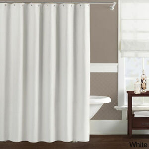 Image Is Loading LUXURY WHITE SHOWER CURTAIN 2 6m X 2m