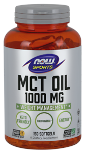 NOW Foods MCT Oil 1000mg 150 Softgels 06/2022EXP Keto Friendly Thermogenic Energ