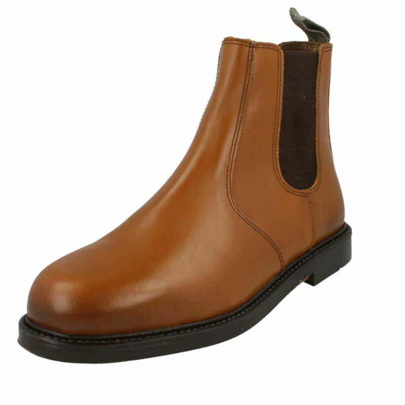 Mens Catesby Leather Tan Chelsea Ankle Boots Uk Sizes 7 - 10 1700