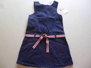Gymboree-Uniform-Shop-Navy-Blue-Jumper-Dress-w-Belt-Size-3-4-7-10-12-NEW
