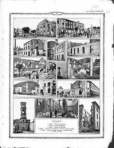 Ruines-Raon-l-039-Etape-Place-Rue-Jules-Ferry-les-Grands-Moulins-les-Halles-1914-WWI