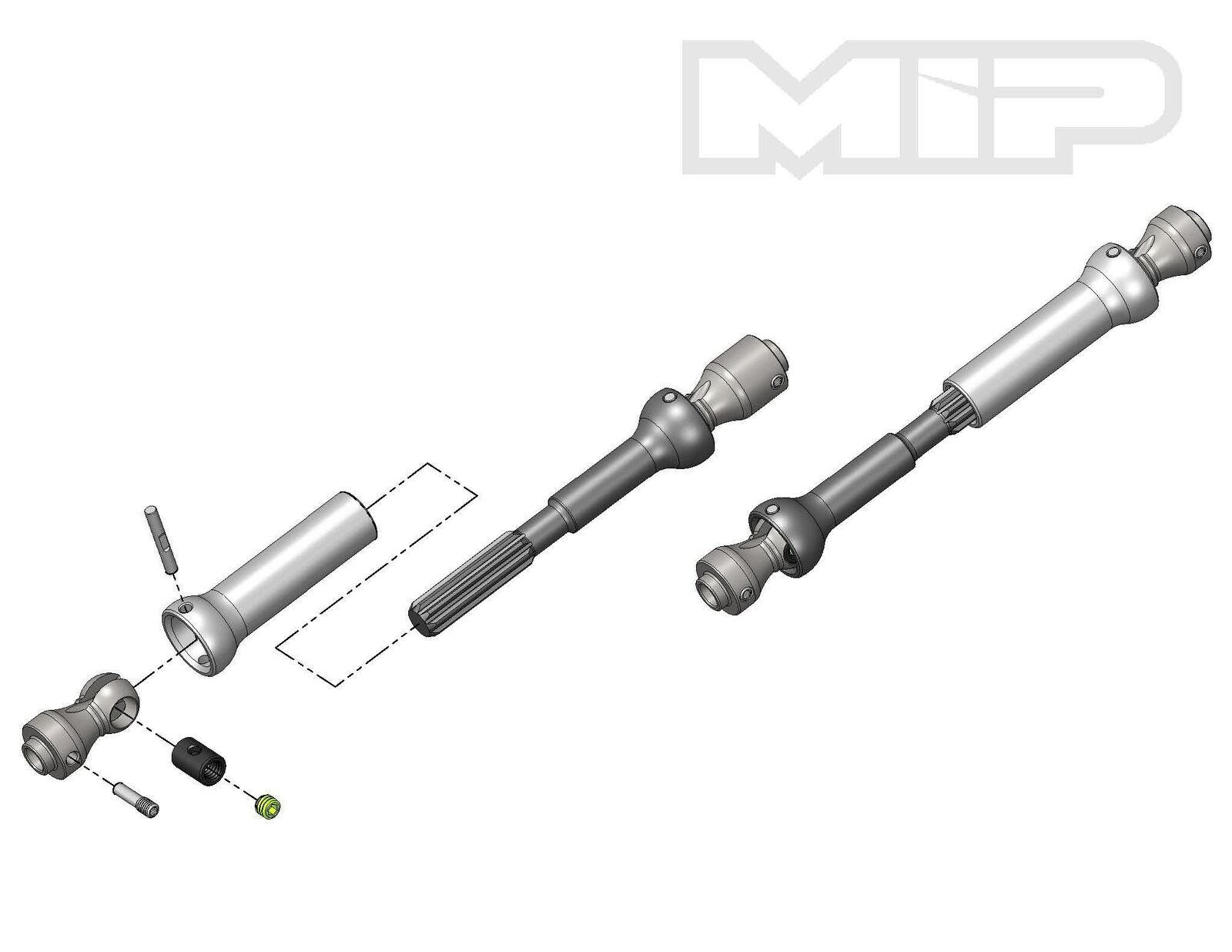 MIP Moore's Ideal Products MIP13360 Spline CVD Center Drive Kit Axial SCX10 Vehi