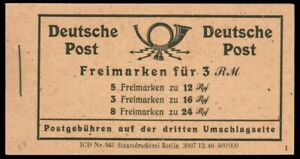 [72128] GERMANY 1946 ALLIED OCCUPATION NUMERALS BOOKLET Michel #MH50 MNH NICE!!!