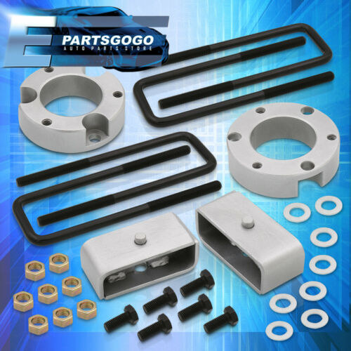 """For 95-04 Toyota Tacoma 3/"""" Front 2/"""" Rear Full Leveling Lift Kit Spacers Silver"""