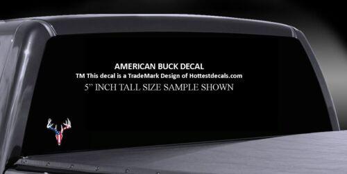 MARYLAND BUCK DECAL SIKA DEER STICKER CAR TRUCK USA AMERICAN FLAG Buck Skull