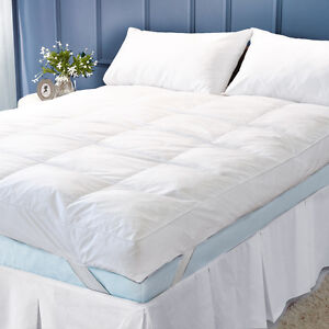 LUXURY-5-034-12-5CM-EXTRA-DEEP-100-GOOSE-FEATHER-amp-DOWN-MATTRESS-TOPPER-ENHANCER