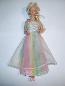 Barbie joyeux anniversaire joyeux anniversaire poupée poupée vintage des années 80 30cm
