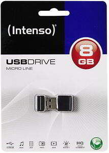 Intenso USB Stick 8GB Speicherstick Micro Line Mini