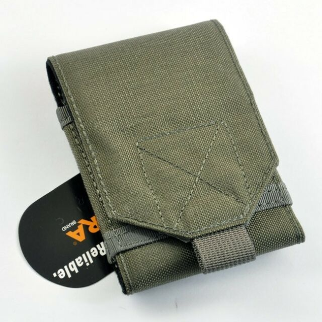 CORDURA FABRIC Military Phone Case Pouch Foliage Green