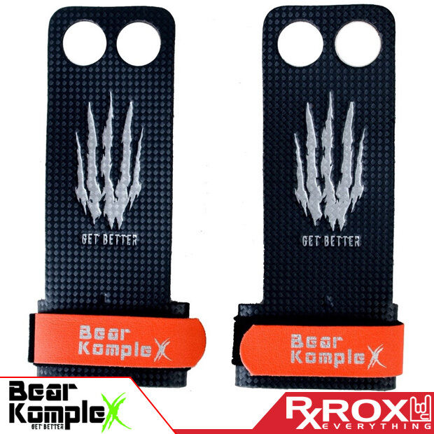 Bear Komplex Carbon Comp Grip | 2 FORI | Crossfit Pull-Up Guanti da Palestra