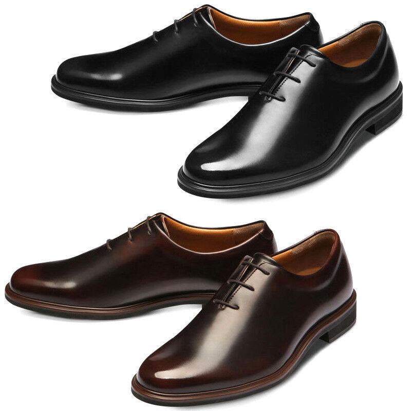 GADAE Uomo Faux Pelle Shoes Whole Cut Plain Toe Oxford Formal Dress Shoes 505