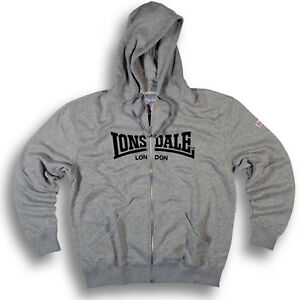 Lonsdale-NOTTINGHAM-Grey-Zip-Jacket-Hoodie-Sweatshirt-3D-Flock-Regular-Fit-XS-S
