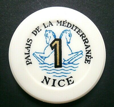 Aufstrebend Palais De La Mediterranee Casino 1 Frs Jeton Plaque Nice Alpes-côte D'azur Fran