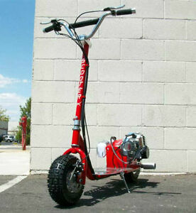 Go fast 49cc gas scooter chrome engine mo ped scooterx for Gas powered motorized scooter