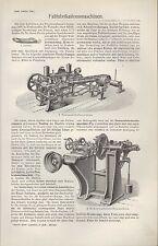 Lithografie 1905: Faß-Fabrikation-s-Maschinen. Reifen-Auftreib-Anzieh-Dauben-Hob