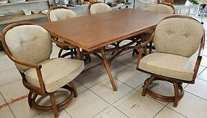 Fabulous Details About Vintage Classic Rattan Inc Of Ky Mid Century Modern Dining Set Table 5 Chairs Ocoug Best Dining Table And Chair Ideas Images Ocougorg
