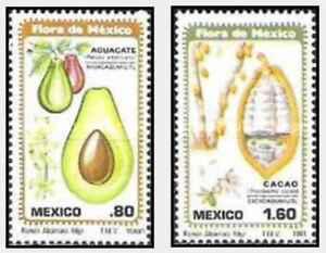 Timbres-Flore-Fruits-Mexique-930-1-lot-24721
