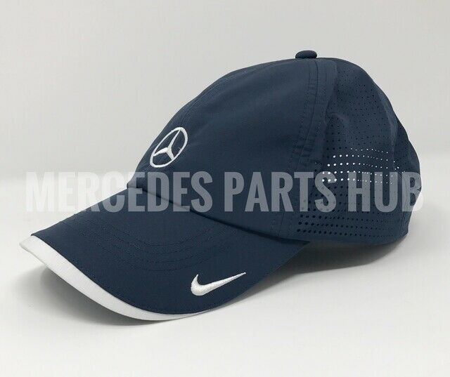 latest crazy price first rate Genuine MERCEDES Nike Running Cap Hat Polyester Dri-fit Navy MWC467NV
