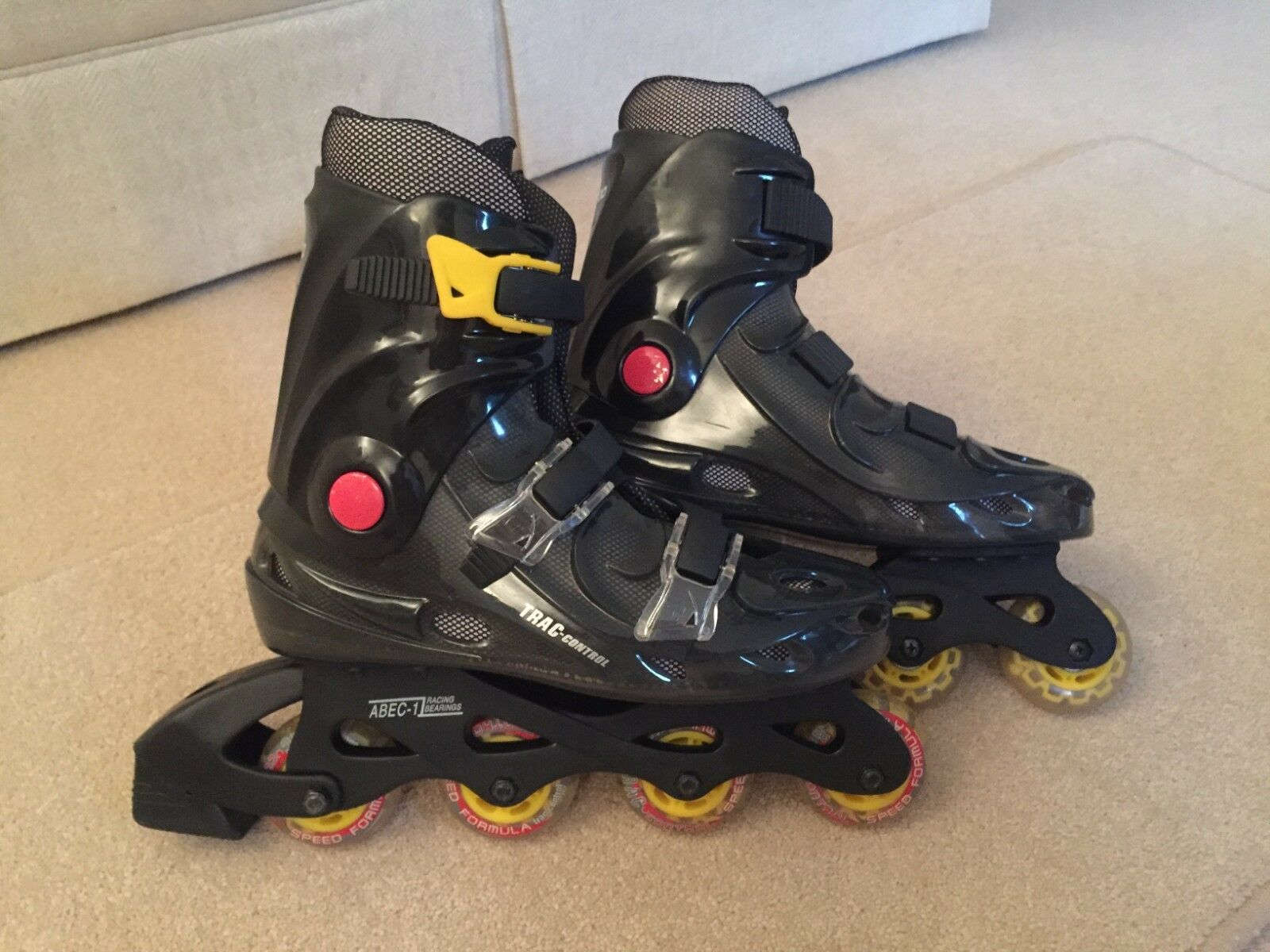 Superb Condition-UK Size 4 CAS (California Advance Sports) Rollerblades STS 5000