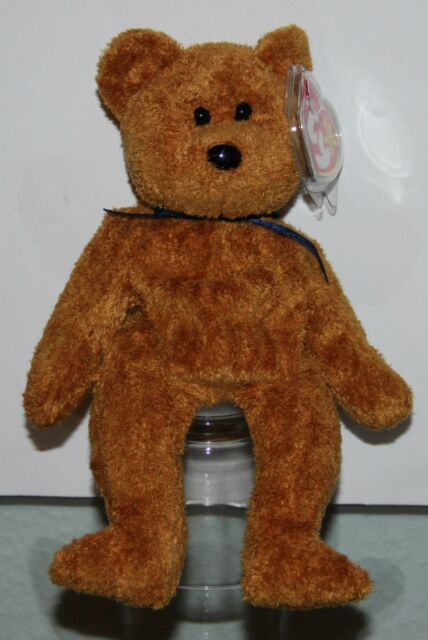 TY Beanie Babies Fuzz The Bear 1999 RARE Collectible 5th Generation ... 51fa3a3f407