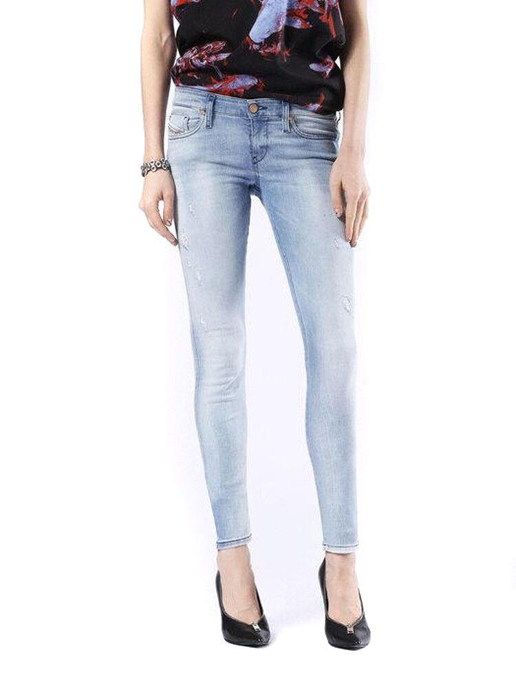 DIESEL SKINZEE-Low 0854g STRETCH DONNA PANTALONE PANTALONE PANTALONE jeans skinny ede86a