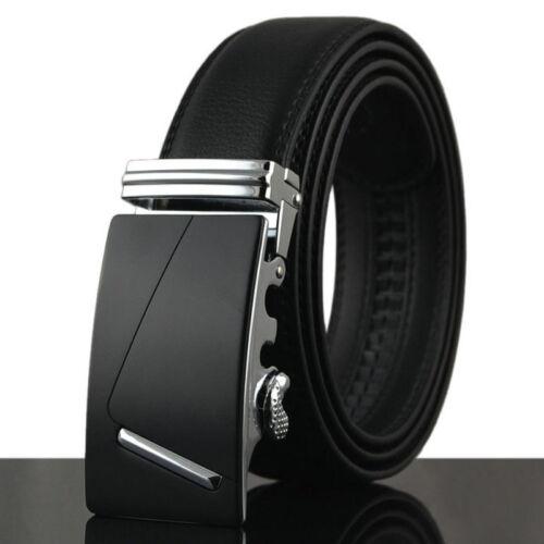 Luxury Men/'s Business Alloy Automatic Buckle Leather Waistband Waist Strap Belt
